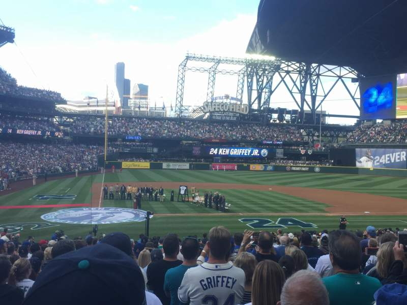 Seating view for Safeco Field Section 125 Row 26 Seat 8