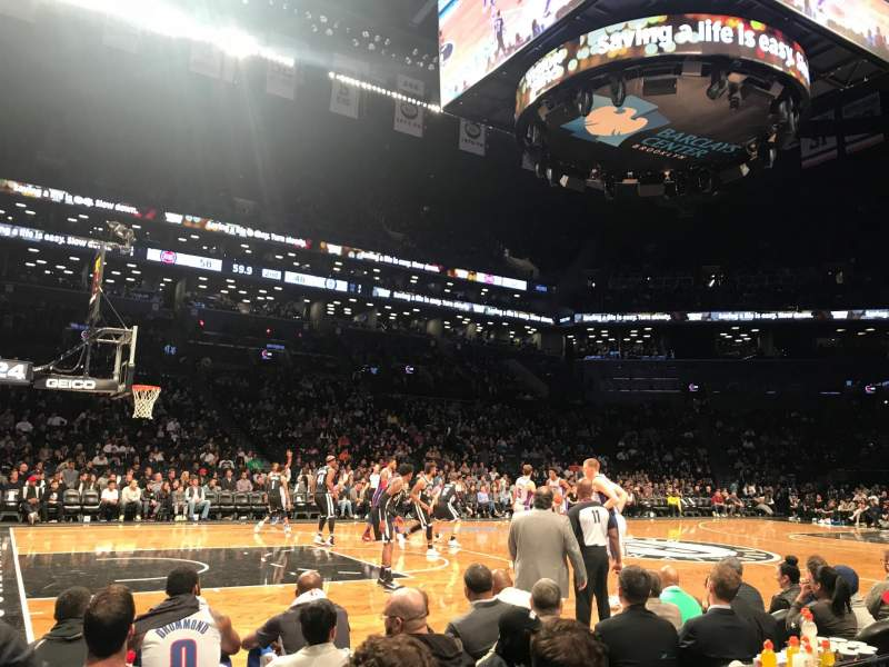 Seating view for Barclays Center Section 25 Row 1 Seat 1