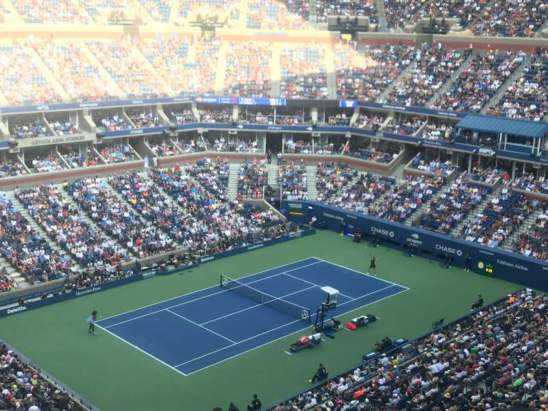 Seating view for Arthur Ashe Stadium Section 326 Row C Seat 9