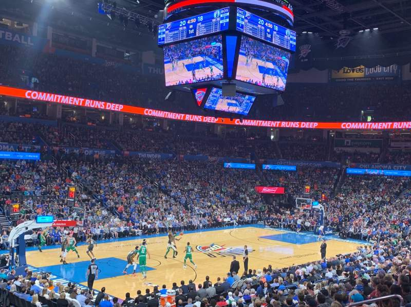 Seating view for Chesapeake Energy Arena Section 118 Row S Seat 13
