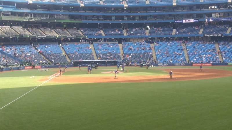 Seating view for Rogers Centre Section 108r Row 2 Seat 12