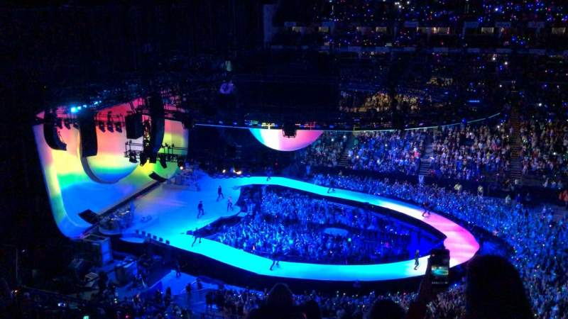 Seating view for The O2 Arena Section 403 Row G Seat 513