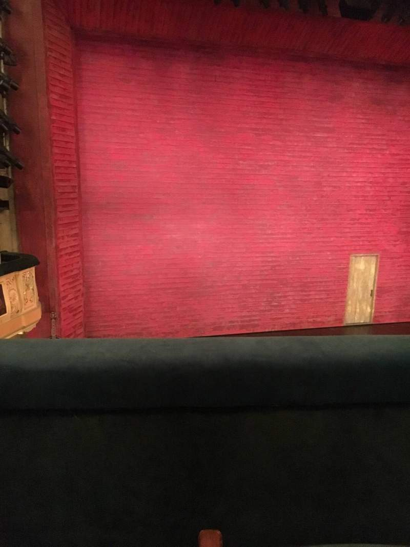 Seating view for Shubert Theatre Section Mezzanine L Row B Seat 5