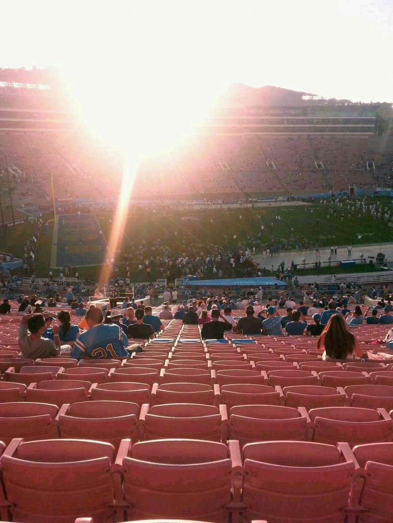 Seating view for Rose Bowl Section 2-H Row 76 Seat 115