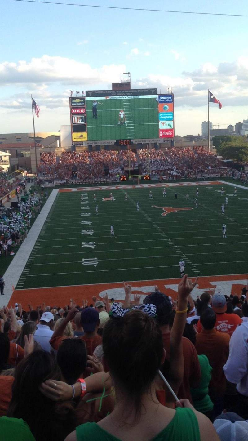 Seating view for Texas Memorial Stadium Section 17 Row 20 Seat 15