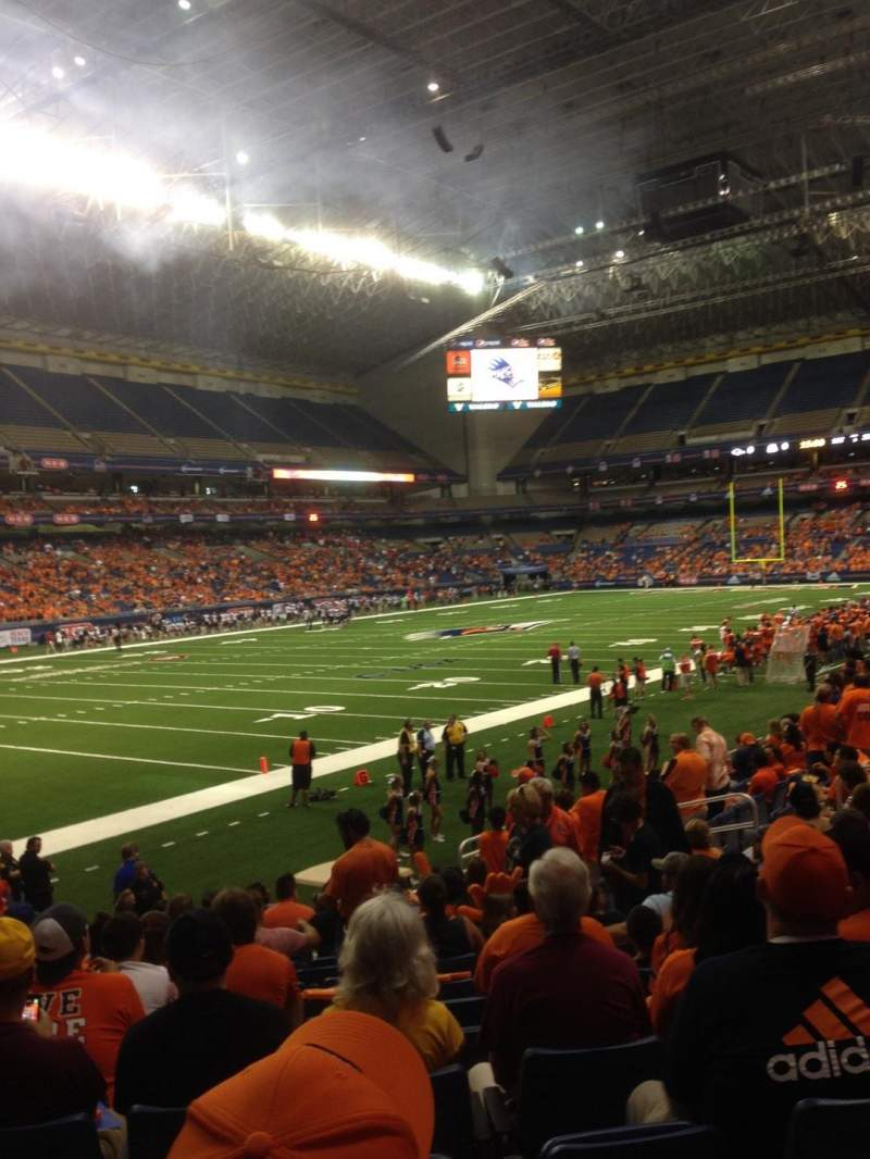 Seating view for Alamodome Section 140 Row 10 Seat 12
