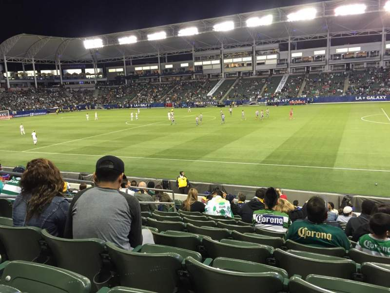 Seating view for Dignity Health Sports Park Section 129 Row Q Seat 20