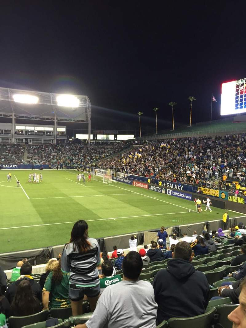 Seating view for StubHub Center Section 129 Row Q Seat 20