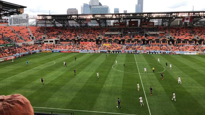 Seating view for BBVA Compass Stadium Section 226 Row J Seat 21
