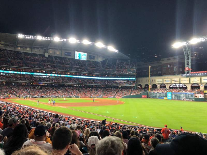 Seating view for Minute Maid Park Section 132 Row 30 Seat 19