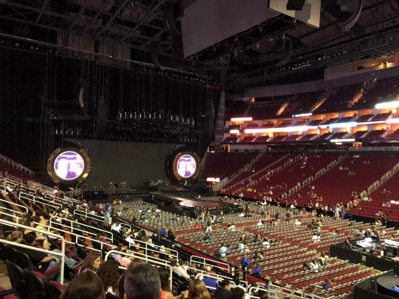 Seating view for Toyota Center Section 116 Row 19 Seat 12