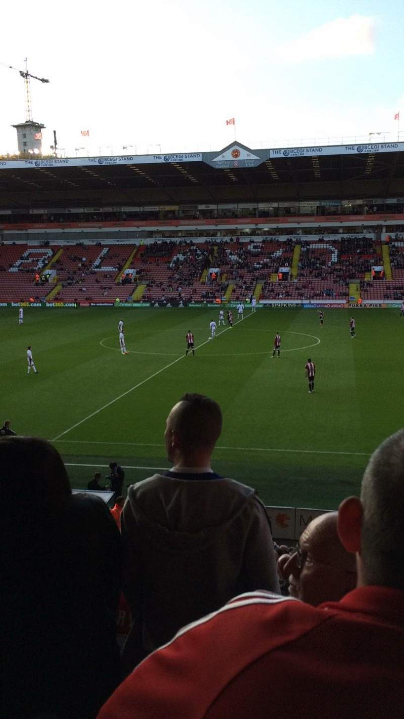Seating view for Bramall Lane Section South Stand Gangway D Row T Seat 79