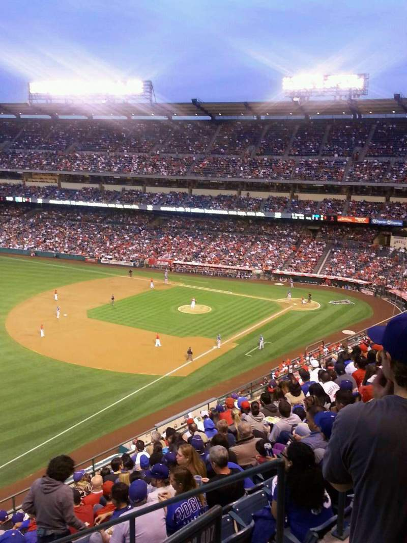Seating view for Angel Stadium Section V508 Row A Seat 18