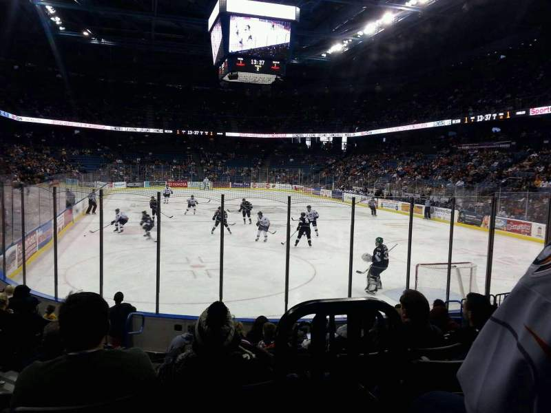 Seating view for Citizens Business Bank Arena Section 122 Row J Seat 10
