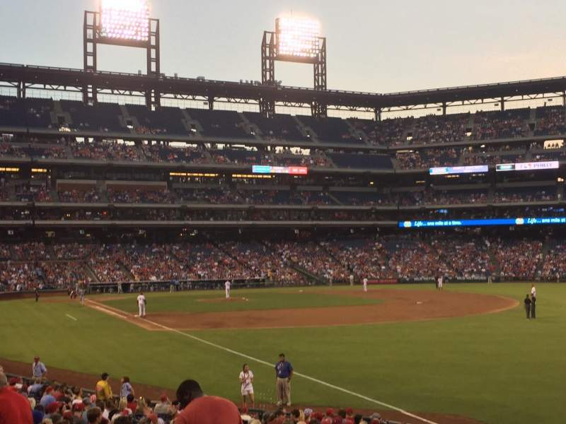 Seating view for Citizens Bank Park Section 109 Row 24 Seat 3