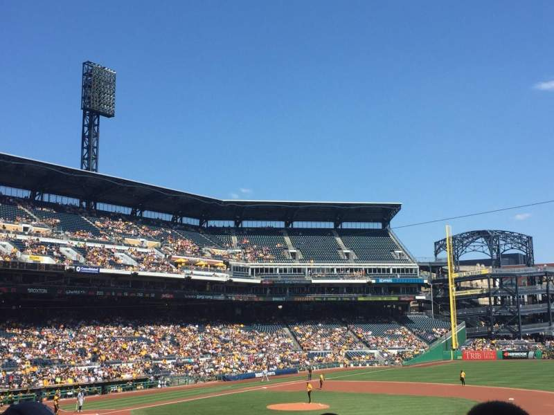Seating view for PNC Park Section 108 Row X Seat 14