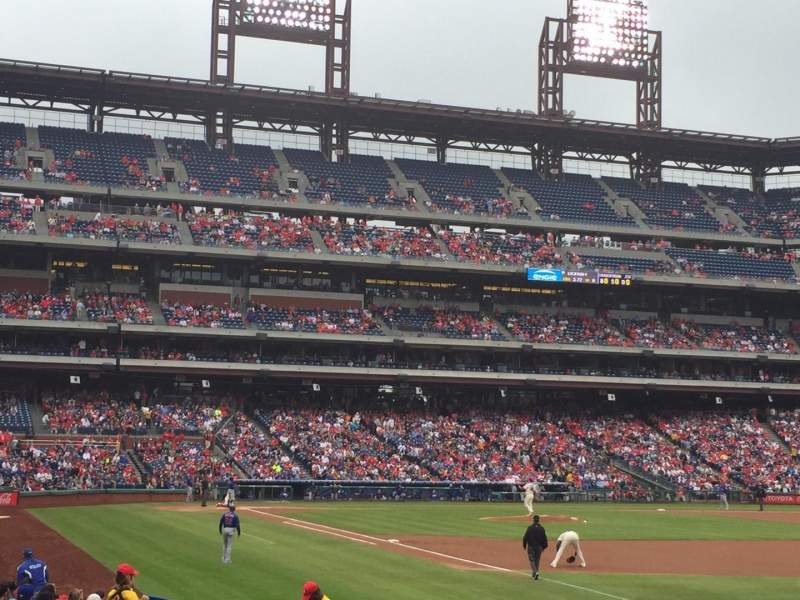 Seating view for Citizens Bank Park Section 110 Row 19 Seat 3