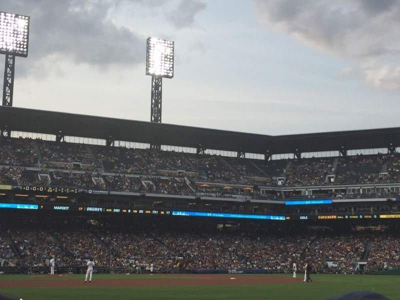 PNC Park, section: 1, row: F, seat: 9