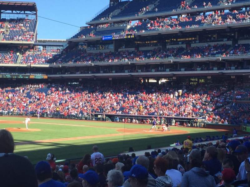 Seating view for Citizens Bank Park Section 134 Row 24 Seat 3