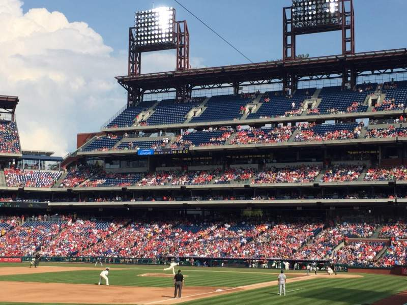 Seating view for Citizens Bank Park Section 127 Row 20 Seat 3