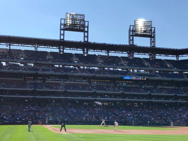 Seating view for Citizens Bank Park Section 109 Row 8 Seat 9