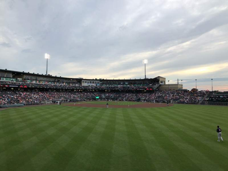Seating view for Coca-Cola Park Section Bacon Strip Row A Seat 69
