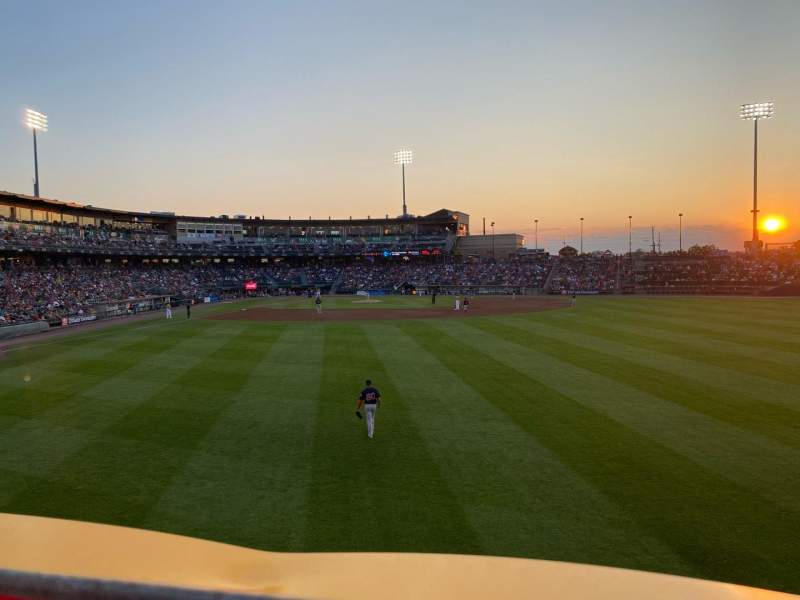Seating view for Coca-Cola Park Section Bacon Strip Row A Seat 36