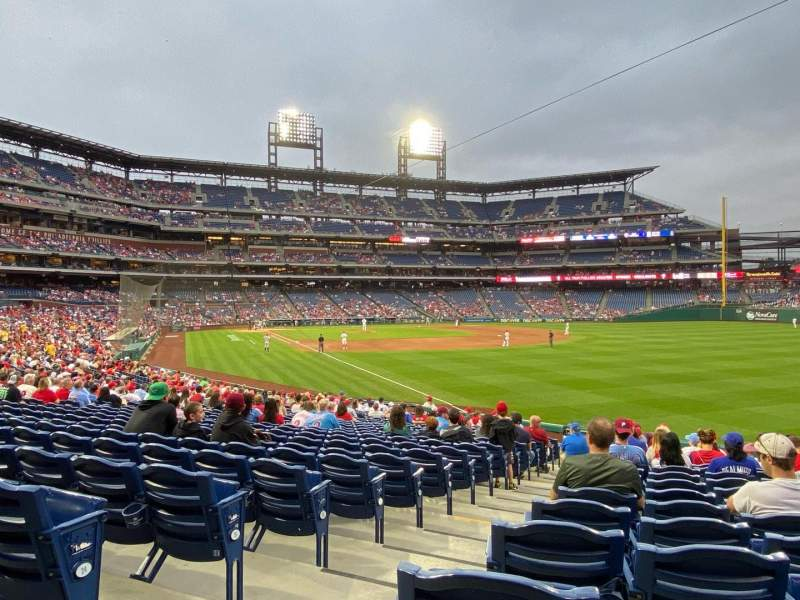 Seating view for Citizens Bank Park Section 108 Row 26 Seat 17