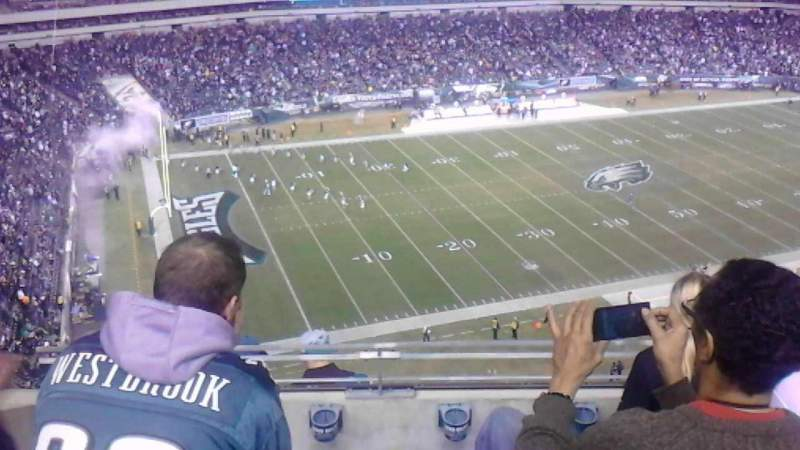 Seating view for Lincoln Financial Field Section 241 Row 8 Seat 17