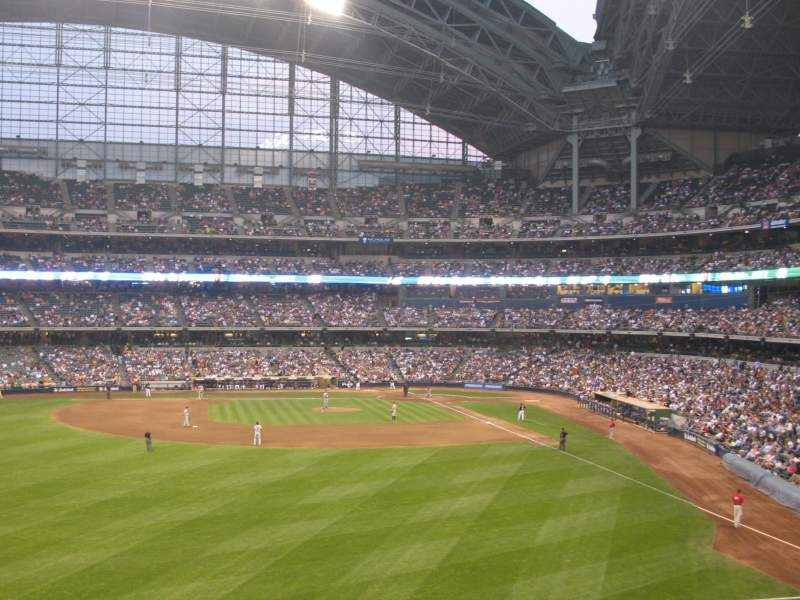 Seating view for Miller Park Section 237 Row 4 Seat 10