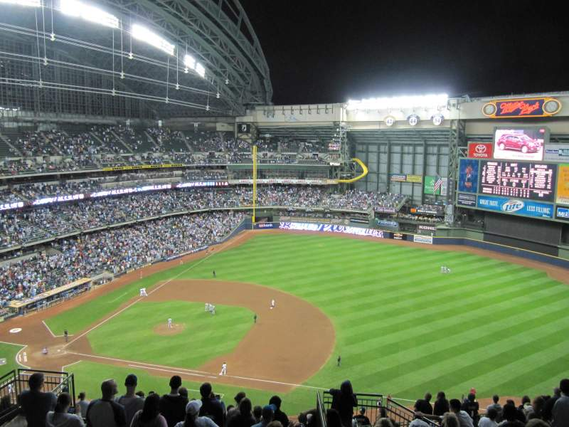 Seating view for Miller Park Section 412