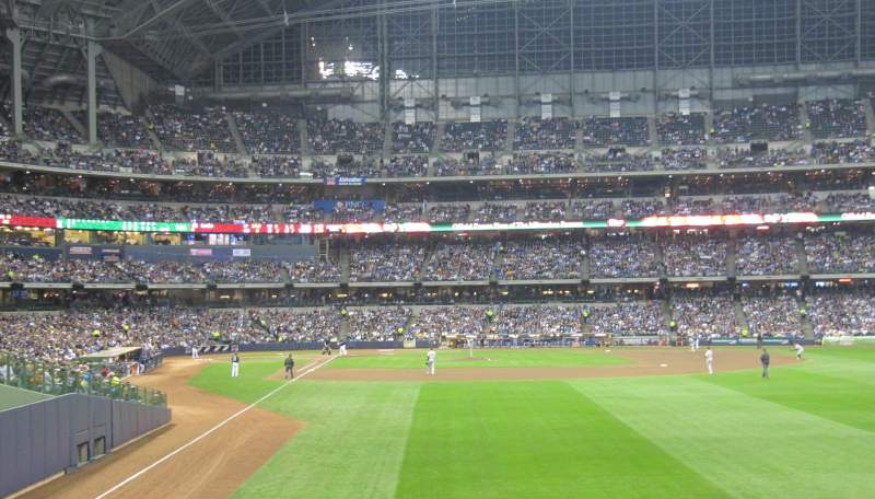 Seating view for Miller Park Section 103