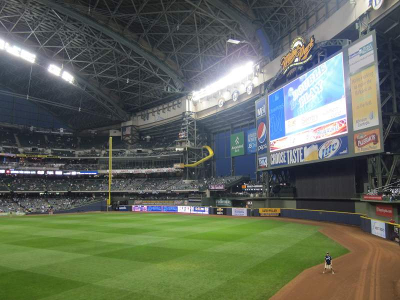 Seating view for Miller Park Section 104