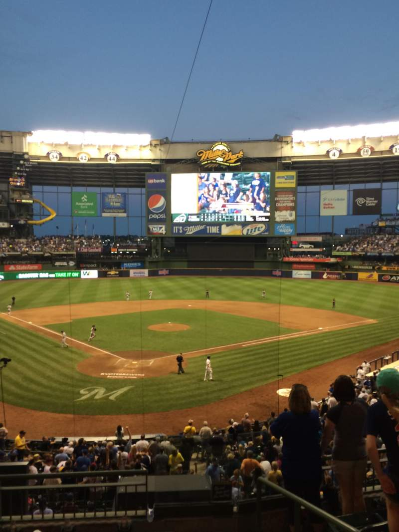 Seating view for Miller Park Section 218 Row 6 Seat 21