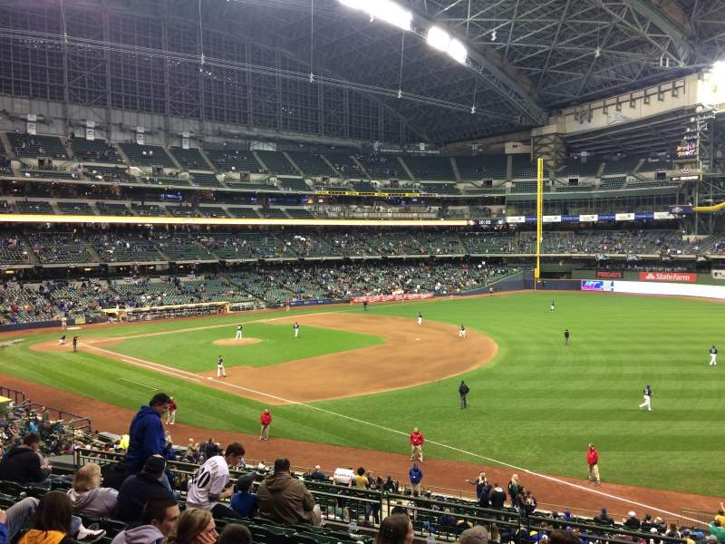 Seating view for Miller Park Section 209 Row 9 Seat 11