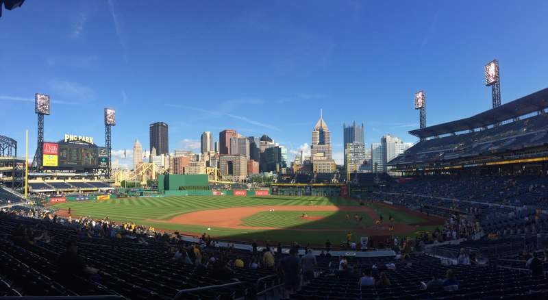 Seating view for PNC Park Section 120 Row W Seat 14