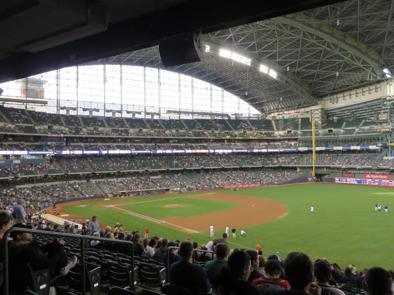 Seating view for Miller Park Section 208 Row 17 Seat 4