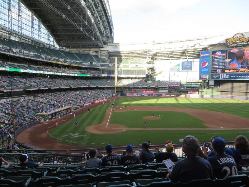 Seating view for Miller Park Section 215 Row 7 Seat 9