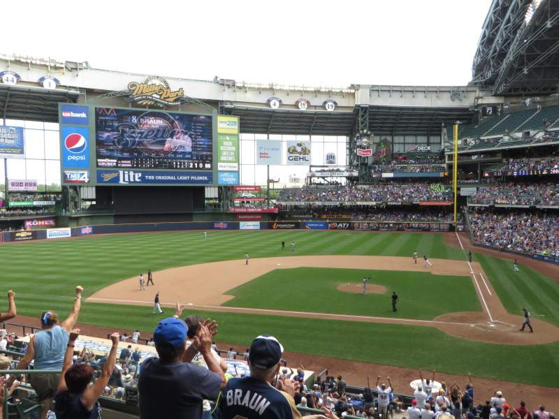 Seating view for Miller Park Section 222 Row 7 Seat 12