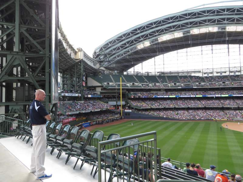 Seating view for Miller Park Section 237 Row 16 Seat 20