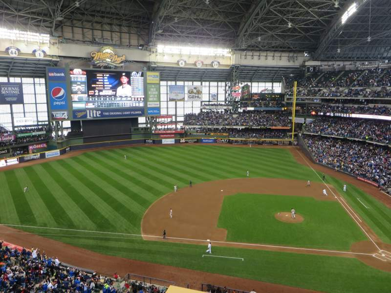 Seating view for Miller Park Section 429 Row 1 Seat 1
