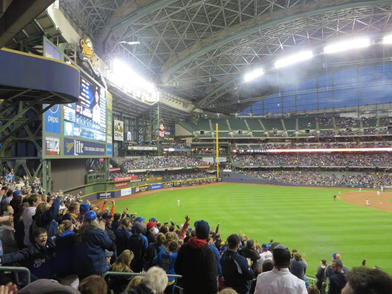 Seating view for Miller Park Section 234 Row 15 Seat 23