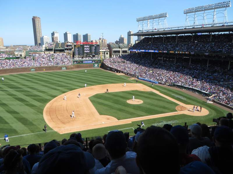 Wrigley Field Section 412 Row 8 Seat 108 Home Of