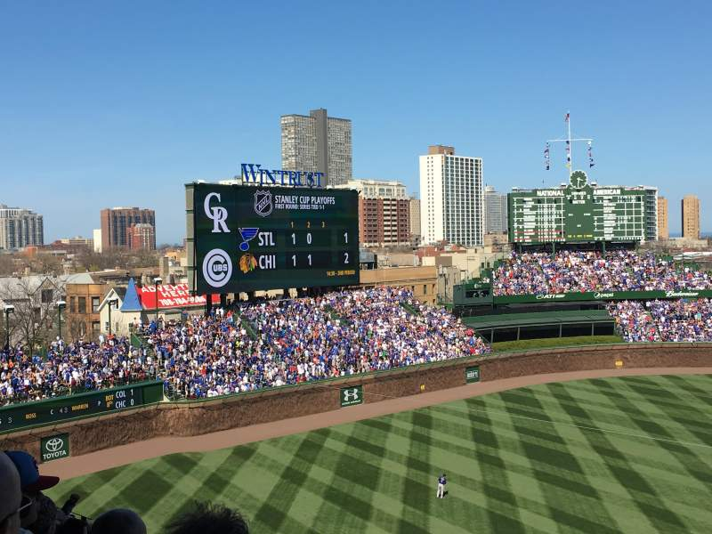 Seating view for Wrigley Field Section 412 Row 8 Seat 108