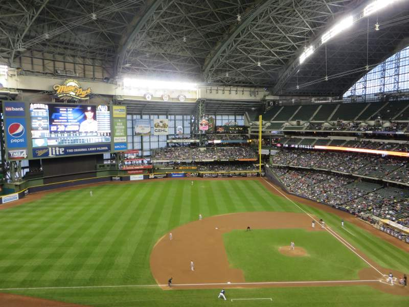 Seating view for Miller Park Section 429 Row 3 Seat 19