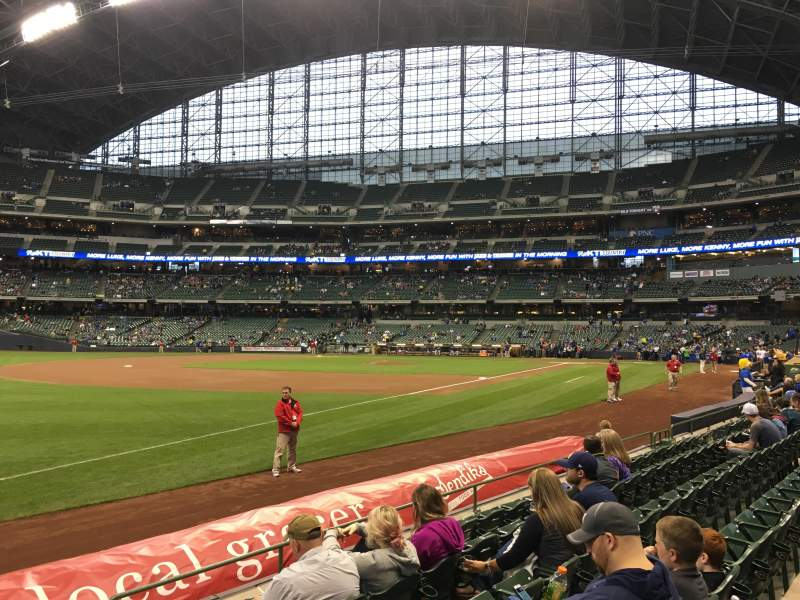 Seating view for Miller Park Section 127 Row 6 Seat 3