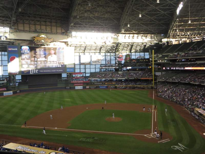 Seating view for Miller Park Section 335 Row 2 Seat 8