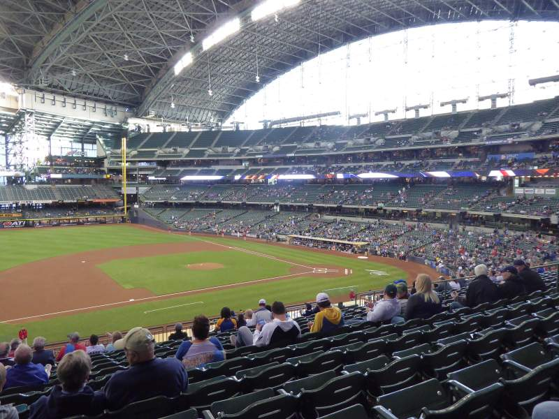 Seating view for Miller Park Section 225 Row 13 Seat 14
