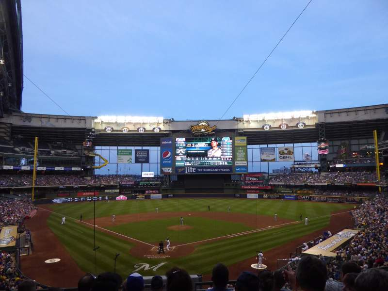 Seating view for Miller Park Section 218 Row 6 Seat 16