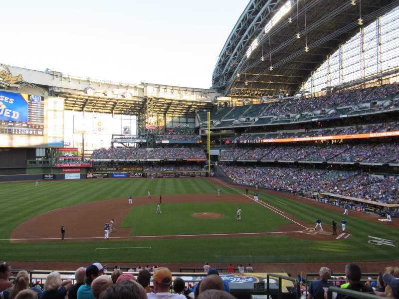 Seating view for Miller Park Section 224 Row 7 Seat 1